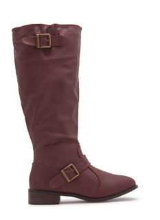 Buckle Strap Riding Boot