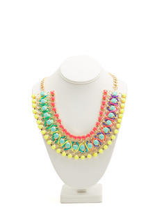 Rainbow Wrapped Jewel Necklace