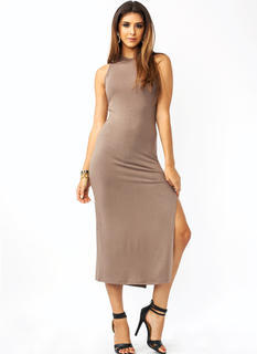 Under The Hood Slit Dress