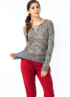 Melange Dropped Shoulder Sweater