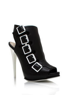 Contrast Caged Booties