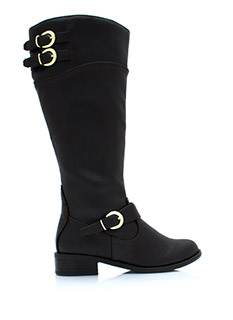 Buckle Down Two Tone Boots