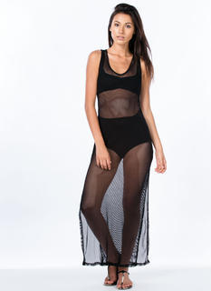 Fishnet Maxi Dress