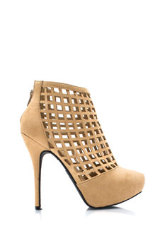 Latticed Windowpane Booties