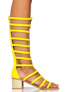 Ladder Up Gladiator Heels