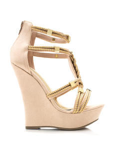 Dope On A Rope Faux Suede Wedges