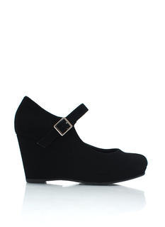Hail Mary Jane Faux Nubuck Wedges