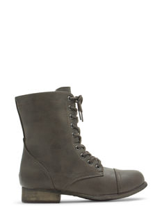 Pebbled Faux Leather Boots