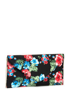 Fresh Picked Flowers Envelope Clutch