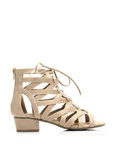 V Yourself Strappy Cut-Out Sandals