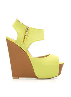 Cut It Out Faux Nubuck Wedges