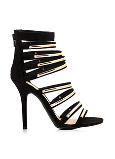 Hit The Bar Plated Strappy Heels