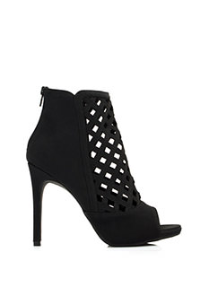 Latticed Cut-Out Booties