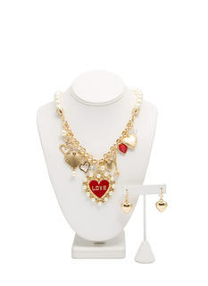 Love Game Charm Necklace Set