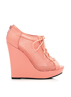 Make A Mesh Lace-Up Bootie Wedges