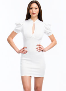 Puffed Up Bodycon Dress