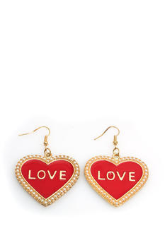 Love In Ur Heart Faux Pearl Earrings