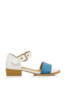 Wide Strap Low Heeled Sandals