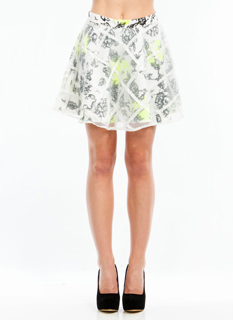 Flower Bed Layered Skater Skirt