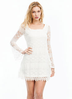 Lace N Crochet Dress