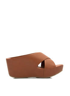 Hot Crossed Slip-On Wedges