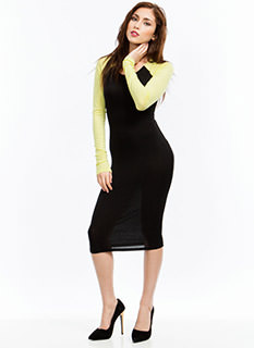Go To Bat Raglan Midi Dress