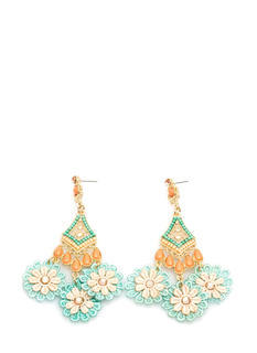Flor It Beaded Crochet Earrings
