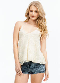 Dainty Lace Halter Top
