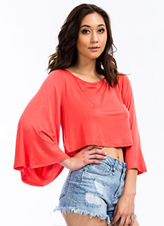 Ring My Bell Sleeve Rayon Top
