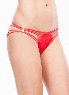 Metallic Accent Cord Bikini Briefs