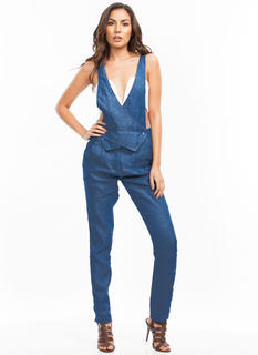 2 in 1 Chambray Jumpsuit