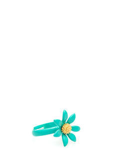Enamel Coated Daisy Ring