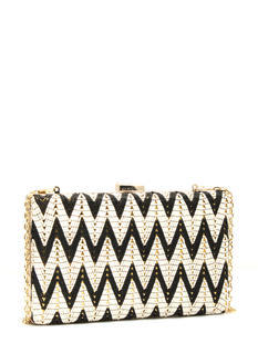 Stitched Zigzags Rectangle Clutch