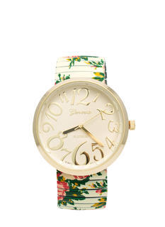 Allover Floral Print Watch