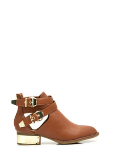 Full Plate Faux Leather Booties