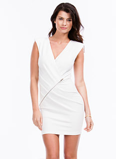 Zip It Good Surplice Dress