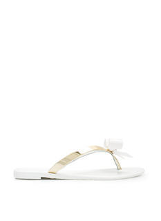 New Shoes: Bow-Dazzled Jelly Thong Sandals