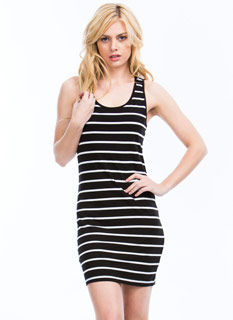 Striped Racerback Bodycon Dress