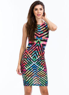 Butterfly Effect Chevron Stripe Dress