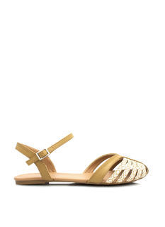 Can't Be Caged Faux Leather Sandals