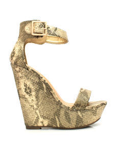 Time 2 Shine Snake Platform Wedges