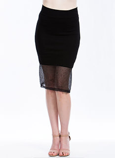 Grid For You Midi Skirt