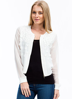 3D Flower Bomber Jacket