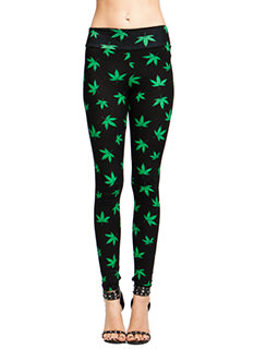 High Times Leaf Print Leggings