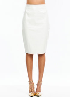 Slick Patent Pencil Skirt