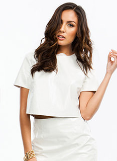 Slick Patent Cropped Top