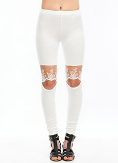 Lacy Days Cut-Out Leggings