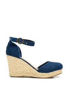 Divine Denim Espadrille Wedges