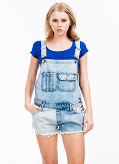 Damsel In Distressed Striped Shortalls