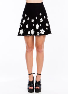 Daily Daisy Fit N Flare Skirt